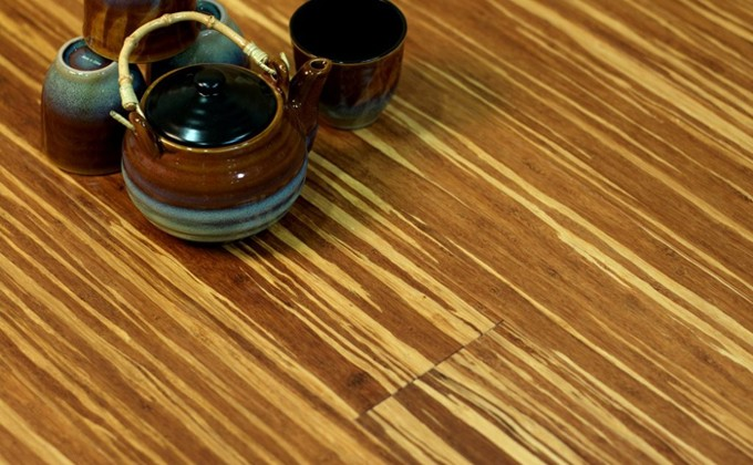 Tiger Solid Strand Woven Bamboo Flooring Wide Plank